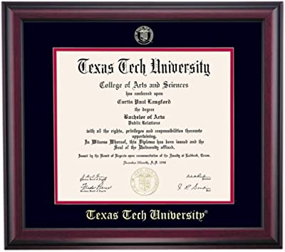 Embossed Seal of North Carolina Wilmington Seahawks Diploma Frame Mahogany Gold Trim Laminated Visuals Univ