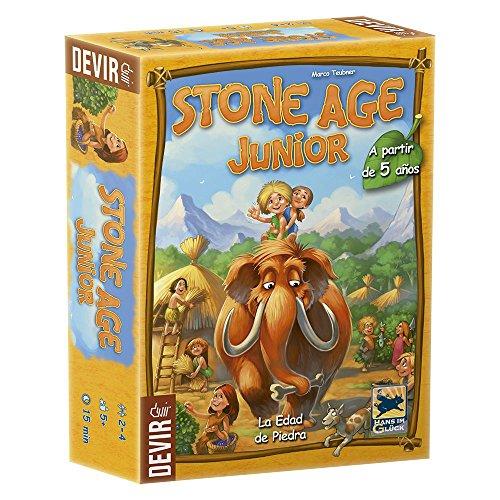 Devir Stone Age Junior Juego de Mesa, Multicolor, Miscelanea (BGJSTONE)