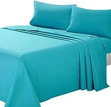 ARTALL Soft Microfiber Bed Sheet Set 4-Piece with Deep Pocket Bedding - Queen, Teal