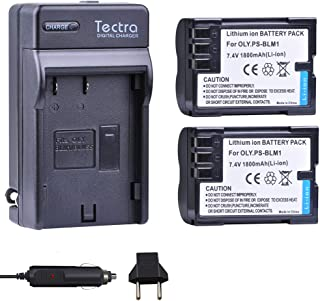 Tectra 2-Pack BLM-1, BLM-01, PS-BLM1 Battery and Charger Kit for Olympus C-5060, C-7070, C-8080, E-1, E-3, E-30, E-520, EVOLT E-300, E-330, E-500, E-510 Cameras