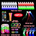 108pcs Glow Party Favors, Light Up Toys for Kids with 32 Led Finger Lights, 50 Glow Sticks, 6 Led Glasses, 6 Light Up Bracelets, 6 Flashing Lights Hair, 4 Peacock Finger Lamp, 4 Eye Finger Puppets by Keyboardseller