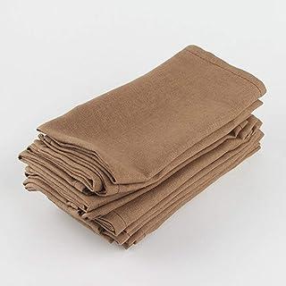 """Wudimaoyiyouxian Cuisine tissu 12 serviettes Pcs (16"""" X16""""), Linge de maison confortable réutilisable durable souple Napki..."""