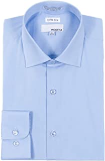 Men's Extra Slim Fit Long Sleeve Solid Dress Shirt - Colors