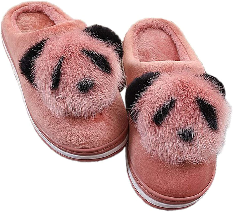 Cute Winter Slippers Cartoon Animation Panda Women Ladies Non-Slip Slip-on Warm Plush Indoor Home shoes
