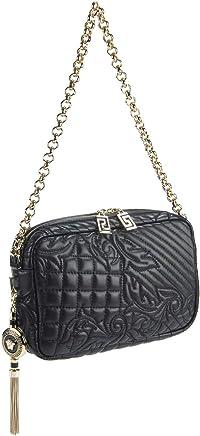 1873478e72e1 Gianni Versace Vanitas Collections Black Lambskin Quilted Shoulder Bag   Removable  Medusa Charm Pendant