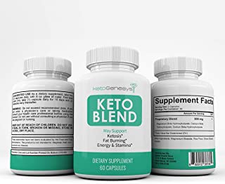 Keto Genesys - Keto Blend- May Support - Ketosis - Fat Burning - Energy and Stamina - 180 Capsules - 3 Month Supply