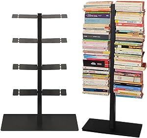 Radius Design booksbaum Double Stand klein schwarz, 3tlg. Best.aus: Halterung + Fuß + Einlegeböden [W]