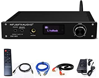 FX AUDIO Bluetooth 5.0 Stereo Amplifier- 2 x150W DSP CSR8675 APTX HD LDAC Headphone Amplifier with OLED Display IR Remote ...