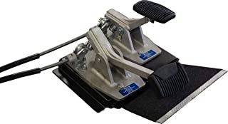 Universal Dual Brake and Gas Set with Platform, Instructors Passenger Side Brake and Gas, School Student Drivers Ed Training Brake and Gas Pedal Combo Set With Platform, Drill-less Design