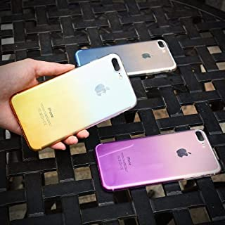 Xingyuan Technology 超薄型 携帯ケース Phone 5/5S/5 SE/5PLUS/6/6S/6SPLUS/7/8/7PLUS/8PLUS/X/XR/XS/XS MAXケース スマホ カバー tpu シリコン グラデーションカラー カラフル (色 : イエロー, サイズ : For iPhone X)