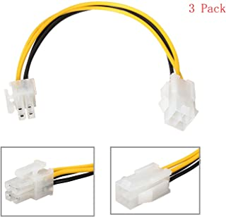 20cm ATX 4 Pin Male to 4 Pin Female EPS Power Cable Adapter Convertor for CPU Power Supply Stable Performance(3PCS)