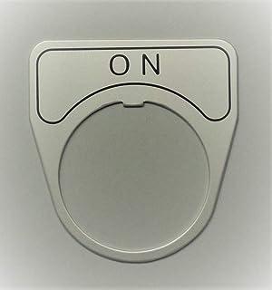 マルヤス電業 φ30スイッチ用銘板(アルミ)、表示 「ON」、X-30-E101