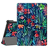 Fintie SlimShell Funda Compatible con Lenovo Tab M10 (HD) - Tablet de 10.1' Súper Delgada y Ligera Carcasa de Cuero Sintético con Función de Soporte, Jungla