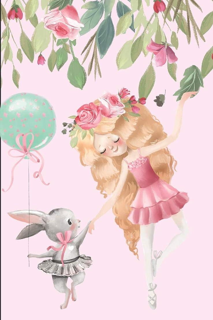 強い騒々しいハブJournal: Little Girl and Rabbit Ballerinas, Lined Journal Paper with Title and Date, 200 pages (6