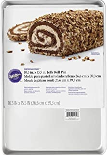 """Wilton Jelly Roll Pan 10-1/2"""" X 15-1/2"""" Uncoated Aluminum"""