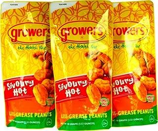10-packs Growers Peanuts Savoury Hot 80g Ea