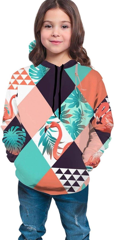NiYoung Kids Teens 3D Printed Pullover Hoodies Coat Loose Casual Sweatshirts