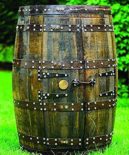 Rustiek massief eikenhouten whiskyvat Drankkast | Wijnrek | Patio tafel