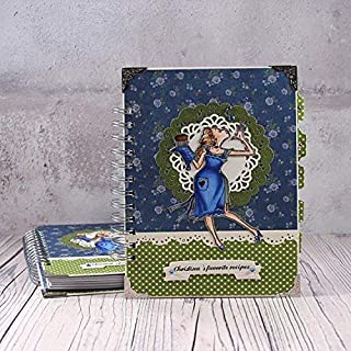 Navy Blue Blank Cook Book