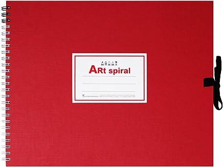 マルマン スケッチブック アートスパイラル F3 厚口画用紙 24枚 レッド S313-01