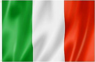 TRIXES Italië Nationale Vlag met Ringen - Groot 5ftx3ft 90x150cm - Hangende Spandoek voor 6 Country Rugby Tournament & Spo...