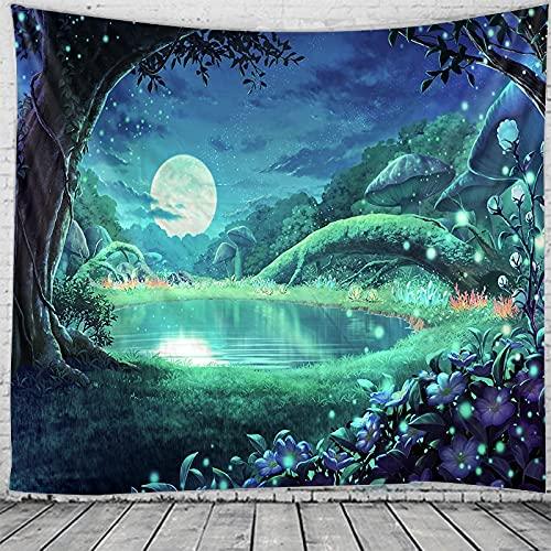 Tapiz de hongos tapiz indio mandala hippie de pared decoración bohemia tapiz de brujería psicodélica A3 73x95cm