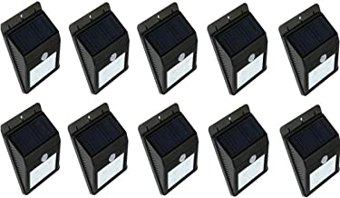 Light Sensor Solar Light 20 Leds Light Set of (10 PIECE) Outdoor Path Wall Lamp Waterproof Heatproof Durable