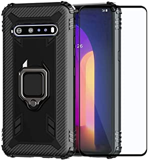Strug for LG V60 ThinQ/LG V60 Case,Soft TPU Armor Heavy Duty Shockproof Protection Built-in 360 Rotatable Ring Magnetic Ca...