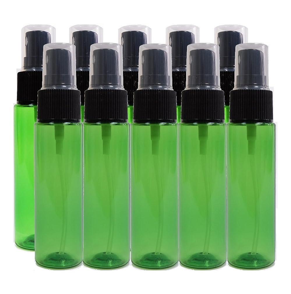 属する行為バンクease 保存容器 スプレータイプ プラスチック 緑色 30ml×10本