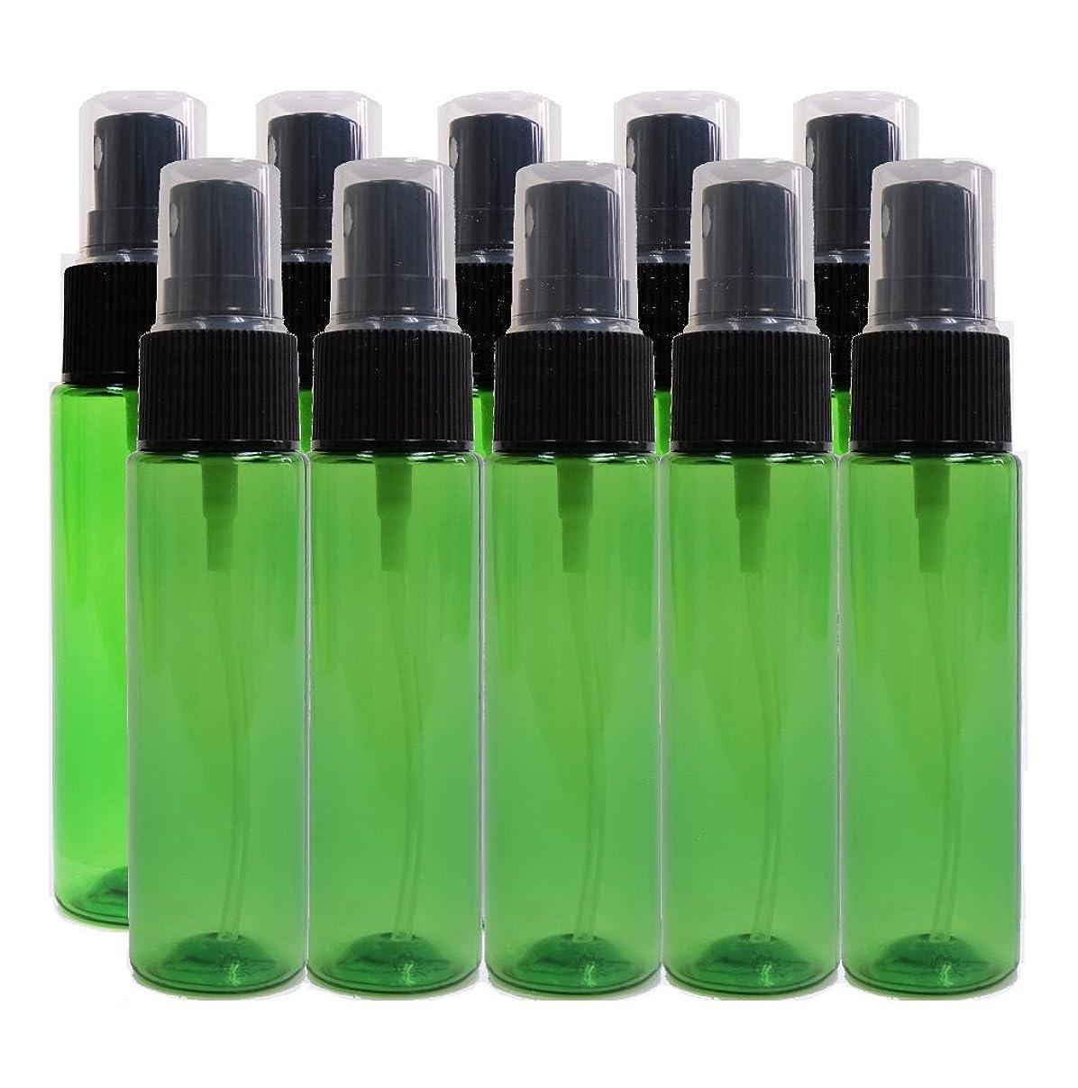 クラウド繁殖見捨てるease 保存容器 スプレータイプ プラスチック 緑色 30ml×10本