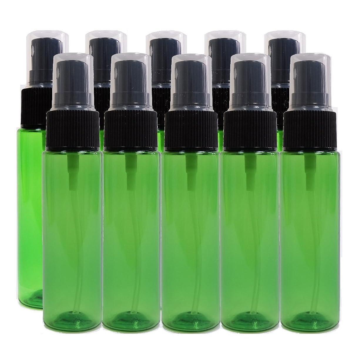 運営光沢荒れ地ease 保存容器 スプレータイプ プラスチック 緑色 30ml×10本