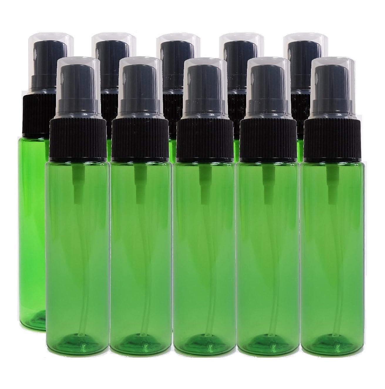 ライン動揺れるease 保存容器 スプレータイプ プラスチック 緑色 30ml×10本