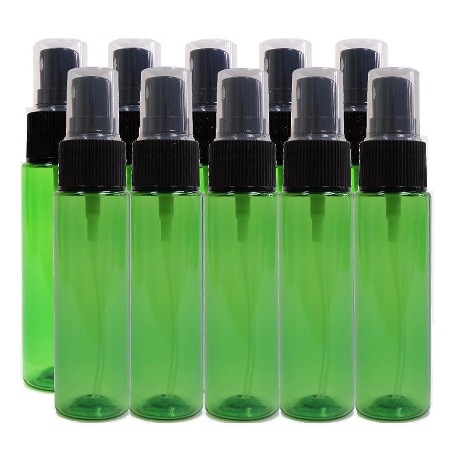 アライメント副産物障害者ease 保存容器 スプレータイプ プラスチック 緑色 30ml×10本