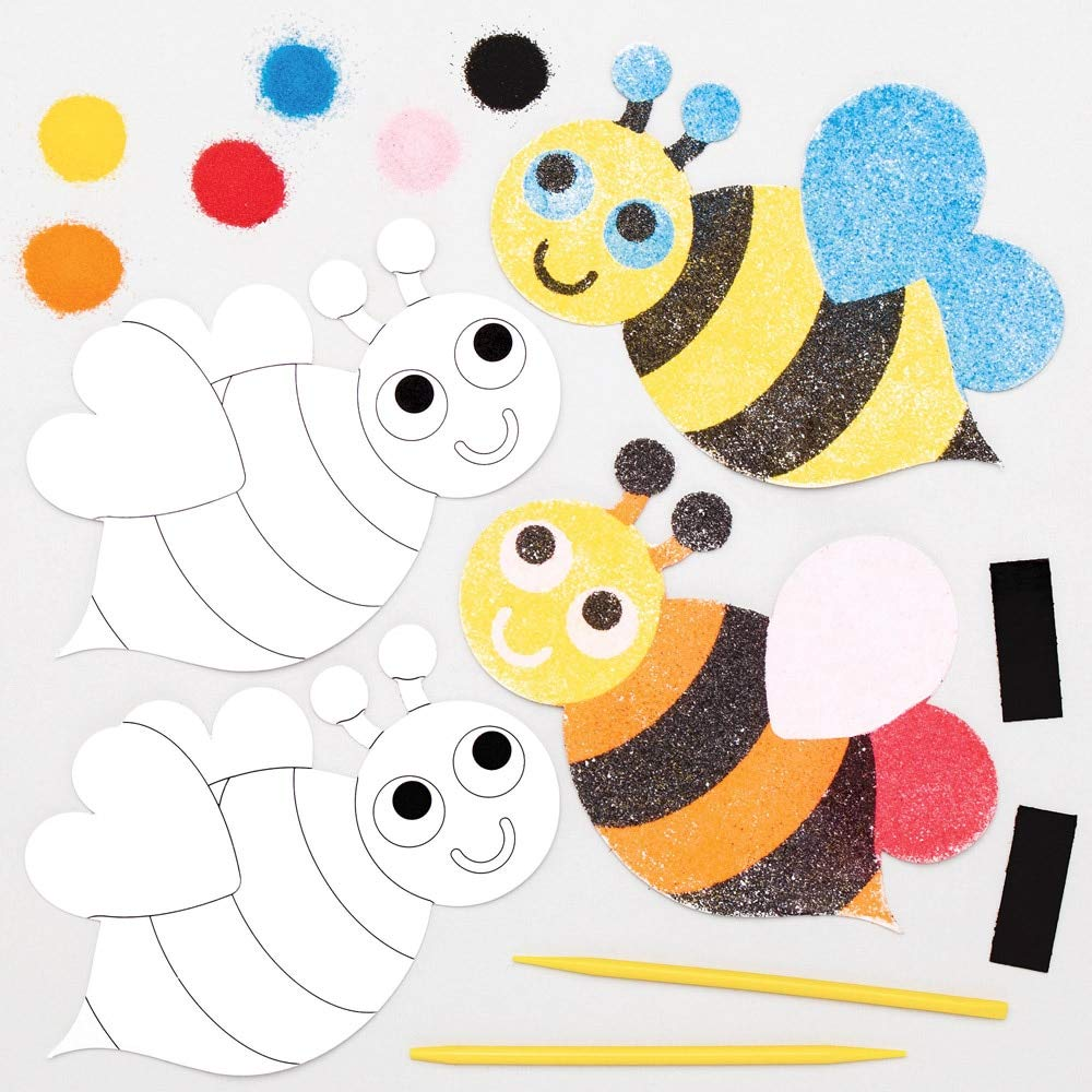 Baker セール開催中最短即日発送 Ross AT815 Bumble Bee Sand Art Magnet Pack fo Kits 6 奉呈 - of