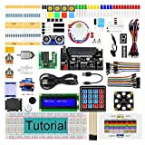 Freenove Ultimate Starter Kit for BBC Micro:bit (Not Contained, Work with V1 & V2), 305-Page Detailed Tutorial, 224 Items, 44 Projects, Blocks and Python Code, Solderless Breadboard