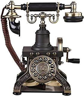 PPCP Retro Style Phone Button Dial Phone High-end Creative Old-Fashioned Home Phone Office Landline (246mm*274mm)