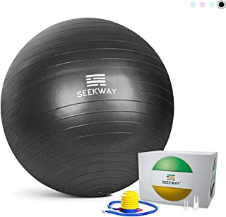 Exercise Ball for Yoga,  Balance,  Pilates,  Fitness - Yoga Ball Chair- Extra Thick Professional Stability Ball Supports 2200lbs,  Anti Burst,  No Slip,  for Office,  Home,  Gym,  Desk Chairs