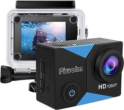 Piwoka Cámara Deportiva HD1080P Impermeable 30M acción cámara submarina Pantalla 2