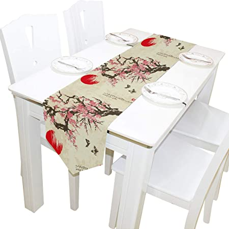 Wide Table Runner with an Asian Theme