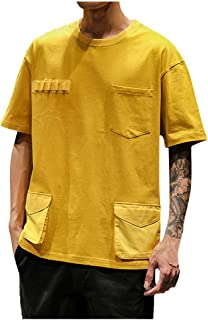 AngelSpace Mens Autumn Relaxed Fit Long Sleeve Individuality Stylish T-Shirt