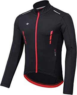 Santic Winter Cycling Jakets for Men Thermal Bike Running Jacket Windproof Breathable Windbreaker