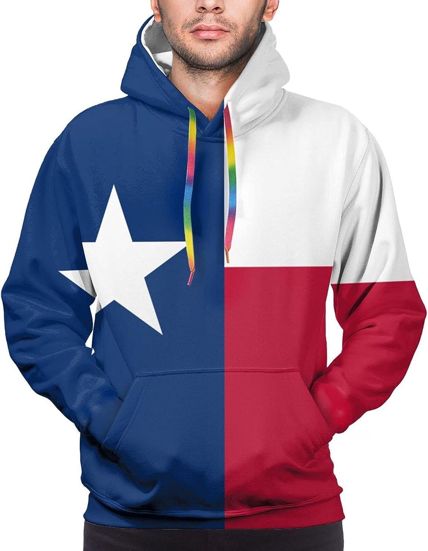 Hoodie For Mens Womens Teens Flag Of Texas 3d Printed Hooded Sweatshirt