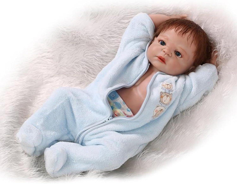 TERABITHIA 23  Alive Silicone Vinyl Full Body Reborn Baby Girl Dolls bluee
