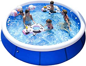 ?Free Expedited Delivery?Family Swimming Pool Summer Party for Kids & Adults, Inflatable Above Ground Pool, Quick Set Kiddie Pools, Swim Center for Outdoor, Garden, Backyard (240x63 cm/ 8ft x 25inch)