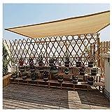 FFKL VIIPOOSun Shade Sail Toldo Transpirable Anti-UV Protector Solar Canopy Rectángulo para Gazebo Patio para Patio/Jardín,Yellow-3 * 3m
