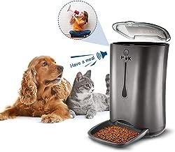 PUTTY KITTY 6.5-7L Comedero Automático de Gran Capacidad para Perro y Gato, 10s Grabación de Voz, Dispensador Inteligente de 4 Comidas, Lo Mejor para Viajes de Vacaciones Negro (Manual de España)