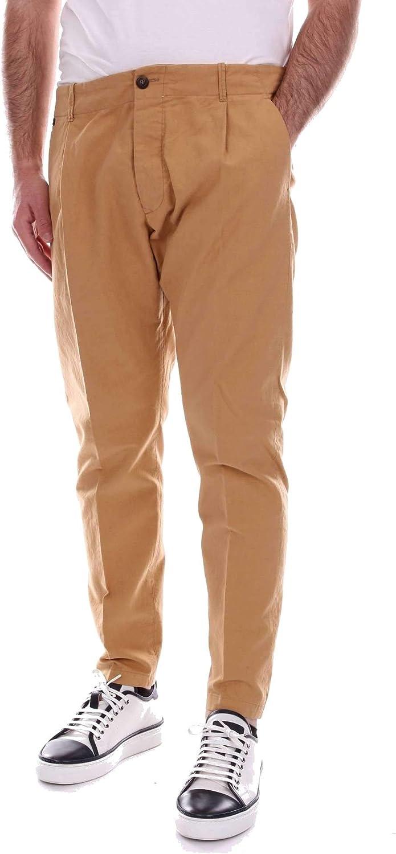 MESSAGERIE Men's 004502T08999LIGHTBROWN Brown Cotton Pants