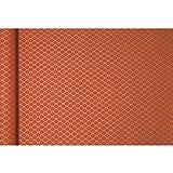 Clairefontaine Tiny Rolls 223825C, Rollo de papel de regalo de papel kraft en bruto, 100% reciclado, 5 m x 35 cm (especial ancho pequeño), 70 g, diseño de flores rojas