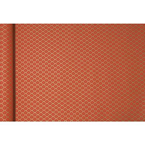 Clairefontaine Kraft - Papel de regalo, 5 x 0,35 m, diseño de flores rojas