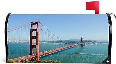 happygoluck1y Golden Gate Bridge Mailbox Covers Magnetische Standaard Maat Vakantie Seizoensgebonden Thuis Tuin Decor Kers...